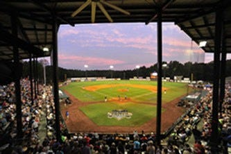 Here's a view from underneath the stands at the renovated Keeter Stadium in Shelby, N.C., the home of the American Legion World Series.