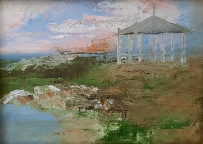 'Summer House' painted on Star Island by artist Barbara O'Brien, of Maynard.