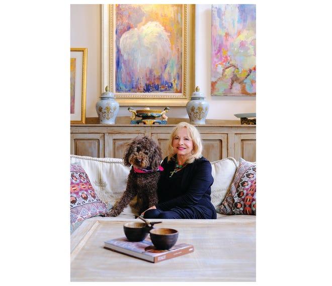 Bonnie Flood and her dog Bella.