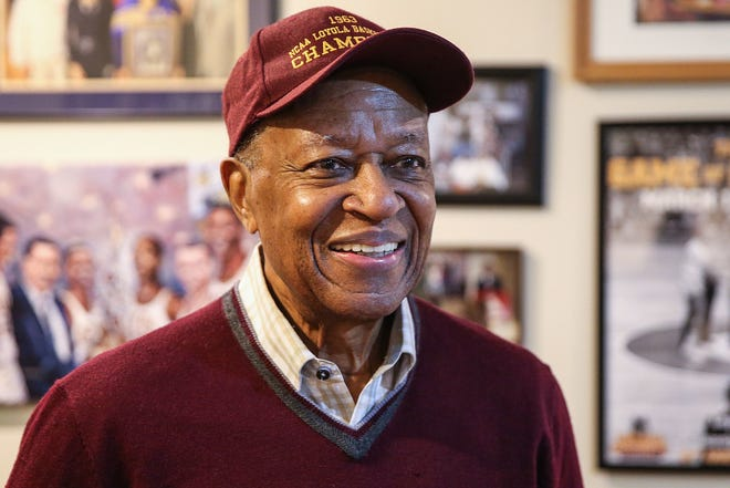 Jerry Harkness was a player on the 1963 Loyola national title basketball team; he was photographed at  his home in Lawrence, Indiana, on  March 28, 2018.