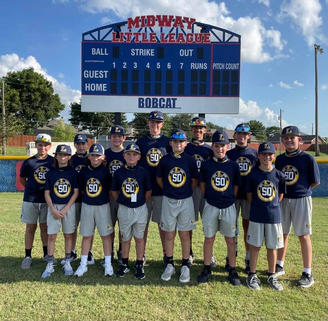 The Lafayette Little League team practiced at Midway while in Texas for the Southwest Regional baseball tournament. The Louisiana state champs are headed to Williamsport, Pennsylvania, for the Little World Series.