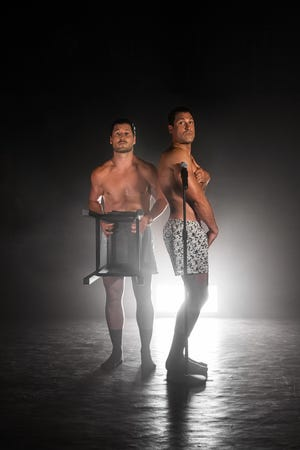 When professional dancers and brothers Val, left, and Maksim Chmerkovskiy realized their 2021 tour would need to be a 'stripped down' version of previous tours with fewer dancers and less production, the two decided to have a little fun with the name of the tour. They assure that the show, despite its title, is family friendly.