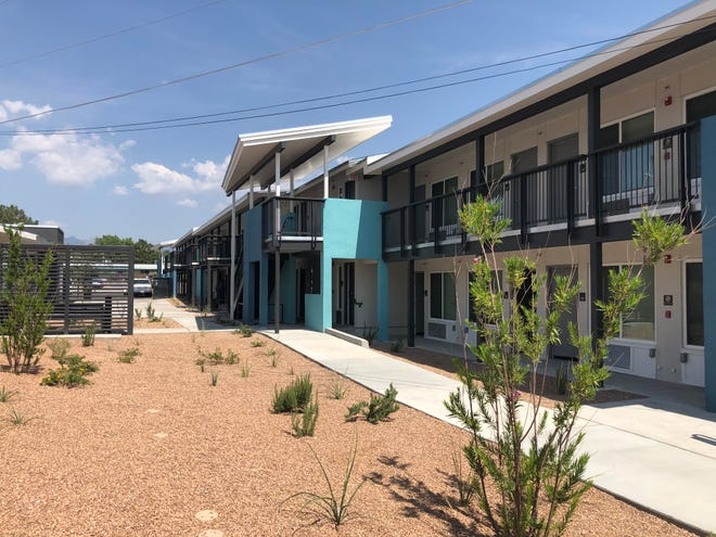 Desert Hope, an apartment complex which will house formerly homeless residents, is at 1310 Pecos St. Pictured Aug. 6, 2021.