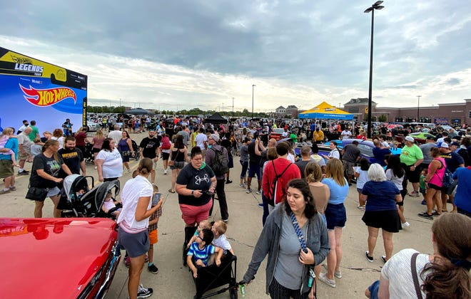 Crowds at the Hot Wheels Legends Tour in Livonia.