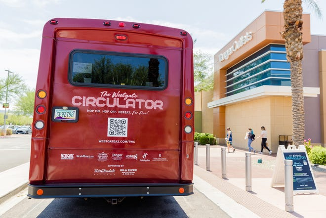 Shoppers, hotel guests and casino patrons have a new way to get around Glendale's Westgate Entertainment District with The Westgate Circulator, a free-to-ride shuttle.