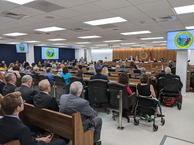 The North Carolina Senate Finance Committee's hearing on the medical marijuana bill last month was packed with observers. The bill passed and proceeded to the Senate Health Committee.