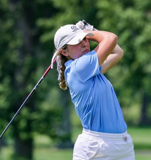 Hudson's Delaney DiGeronimo at the Lady Explorer Invitational on Monday, Aug. 9, 2021. DiGeronimo led Hudson with a 78.