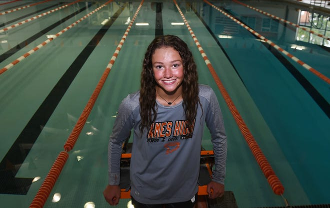 Ames High senior Meghan Donald is excited for her final year with the Little Cyclones in 2021. Donald, a North Carolina State verbal commit, is the defending individual state champion in both the 50 and 100-yard freestyle races and she will help Ames try to win its 10th team championship in 12 years.