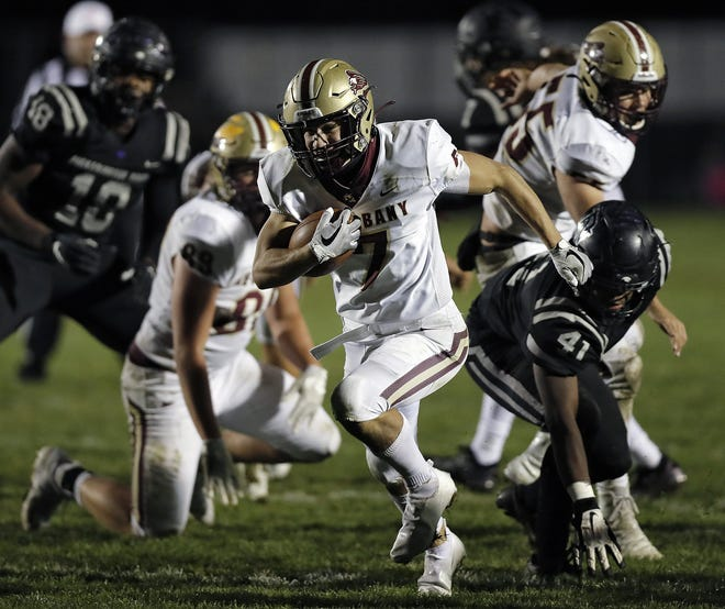 Senior Brock Kidwell is taking over the quarterback position for New Albany, but he also expects to see action at running back and safety.