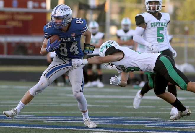 Olentangy Liberty senior Chase Brecht caught 30 passes for 475 yards and four touchdowns last season.He was special mention all-district and second-team all-league.
