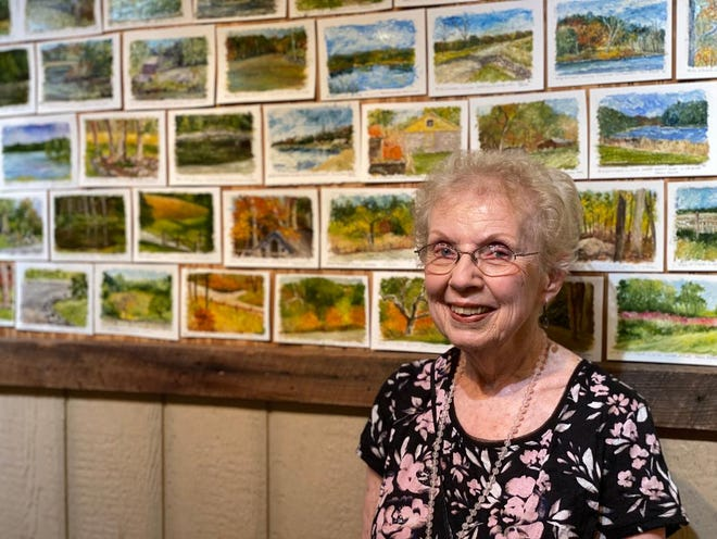 Joan Polishook, award winning artist, expresses her love of country in her prolific works of art.