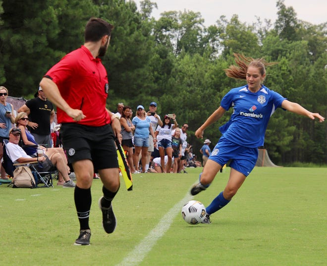 Mo Carnahan of Independence was a dominant force for in the ECRL (Elite Clubs Regional League) so the eighth grader received an invitation to join the KC Athletics ECNL (Elite Clubs National League) team and played a role in the squad winning the 15U ECNL national title. She has been home-schooled but there is a chance she may be a freshman at Fort Osage High School.
