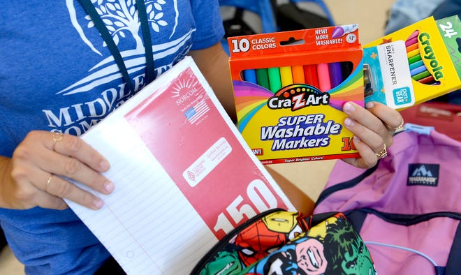 School supplies giveaway scheduled for Friday.
