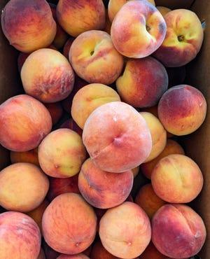 "Peaches for Italian Peach Thyme ""Half-Frozen"" Dessert"