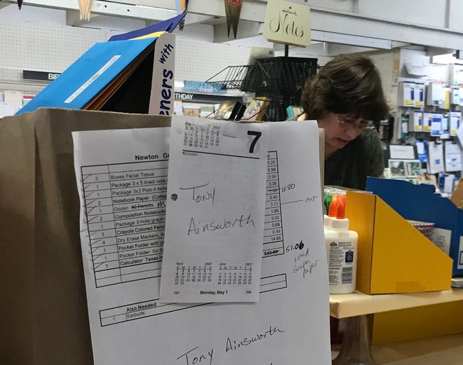 Anderson Book and Supply in dowtown Newton has done its best back-to-school business in 50 years.