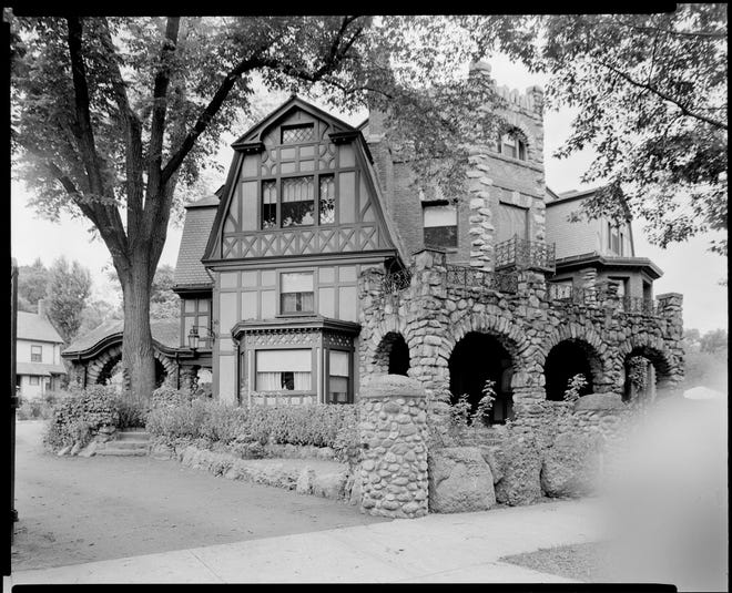 """This is the Captain May House at 61 Arborway in Jamaica Plain as it as in 1940. It was originally owned by Captain Lemuel May. According to his granddaughter, Margherita Emmons, the home was built in 1841. She wrote, """"It has known only two families in the one hundred and nine years."""" After Captain May, it was inherited by his four daughters."""