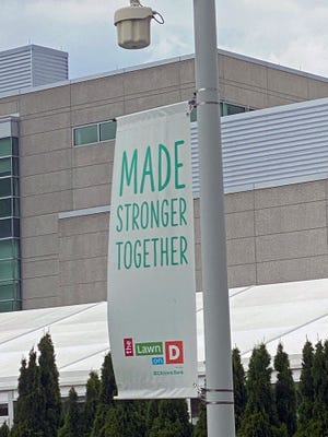 This is the special message people see coming to Lawn on D in South Boston.