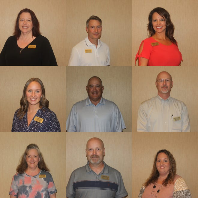 Stacey Shelly, Wes Hillard, Mishelle Davis, Casey Fraley, Robert Burris, Travis Biggs, Phyliss Thompson, Phillip Faucete, and Kim Smith were all welcomed in the Leadership Crawford County 2021 class.