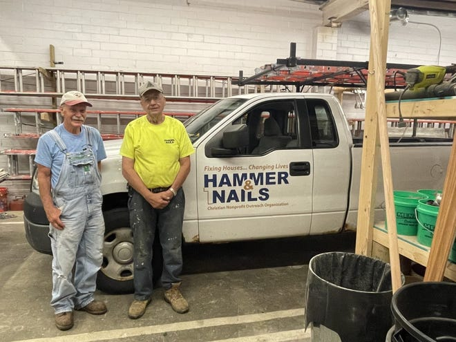 Don Moody and Jim Schrader have been volunteering with the Canton's Hammer & Nails ministry for 21 and 17 years, respectively.