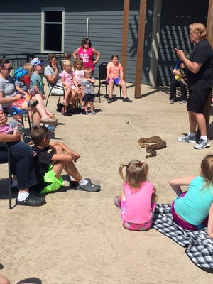 Zoo Man offered to kick off the Summer Reading program on June 1 with 100 people attending his program between two sessions.