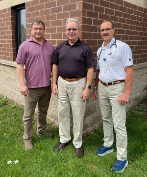 The founding and long-standing owners of Riverside Medical: Doctors John Ockenfels, Timothy Tetzlaff and Robert Mackie.