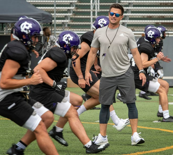 """""""Our guys are excited for this opportunity,"""" Holy Cross football coach Bob Chesney said, """"and I think they'll play tough, which is the most important thing."""""""