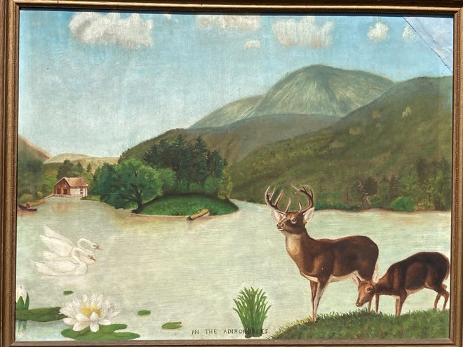 This painting, done by Emma Good Singleton, a reader's grandmother, is likely more than 100 years old. [Submitted photo]