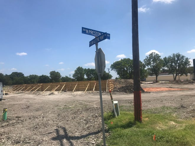 Construction on Van Alstyne's Central Social District Park should be completed by next March.