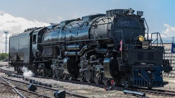 Big Boy No. 4014, the famed Union Pacific steam locomotive built in the 1940s to conquer mountains while carrying equipment during World War II, will make three stops in Ellis County on Sunday.