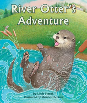 """""""River Otter's Adventure,"""" illustrated by Shennen Bersani, of Wayland"""