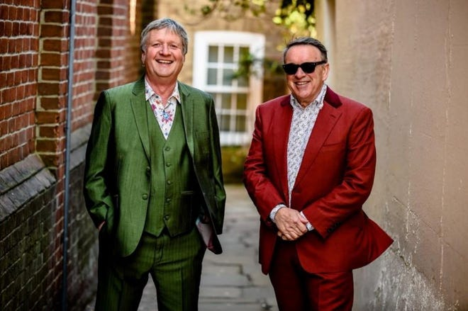 Chris Difford and Glenn Tilbrook of the English rock band, Squeeze.