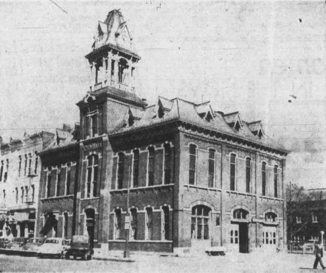 Demolition was in progress in May of 1962 at the old City Hall located on the corner of E. Washington and S. Linn Streets. It opened in 1881 and served as the seat for Iowa City's government for 81 years.