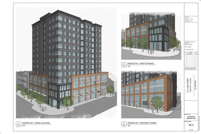 The Iowa City Board of Adjustment rejected a proposed 13-story high-rise in downtown Iowa City. The building would have had commercial business space on the first floor and 229 residential units primarily marketed to students above, but developers were seeking an exemption to have fewer parking spaces.