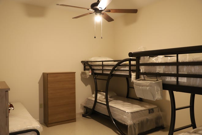 A photo of the Bob Davis Veteran Center's bedrooms. The facility will be able to house up to 18 homeless veterans full time.