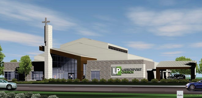 A rendering of the future Launchpoint Church on four acres recently purchased in Lebanon.