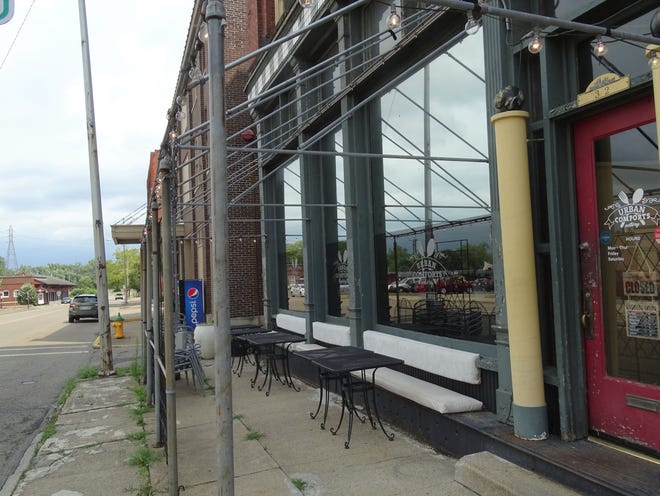 Urban Comforts on Third Street is one of the permitted restaurants participating in the designated outdoor refreshment area (DORA) in downtown Zanesville. The goal is for the district to be operational in September.