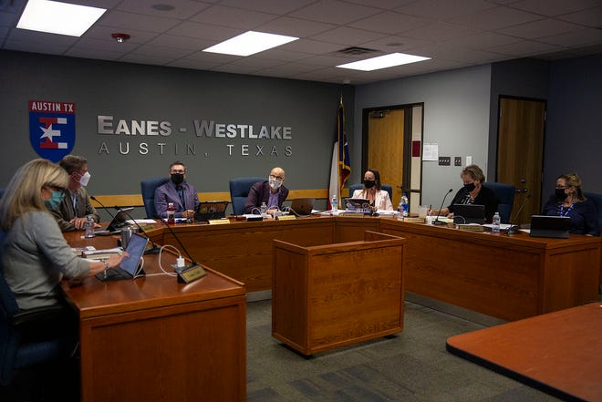The Eanes school board, seen here in a file photo, voted on Tuesday on pandemic sick leave for staff and compensation for the elementary reading academies.