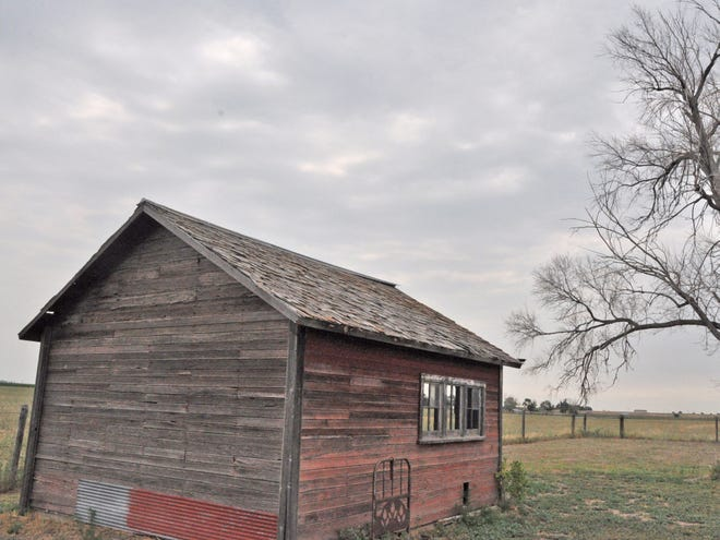 An old farm shed in eastern Colorado