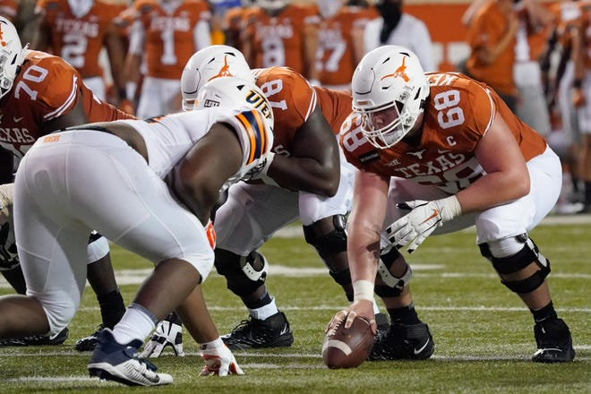 Texas center Derek Kerstetter's 2020 season ended prematurely after a gruesome ankle injury at Kansas State, but he's back for a fifth season this fall. He leads the team with 37 career starts and has played all along the line.
