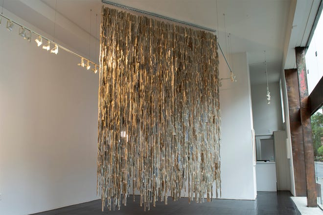"""""""Word Matter,"""" a sculpture by Granville artist Amanda Love, on view at Hammond Harkins Galleries as part of the """"6 plus 1"""" exhibition."""