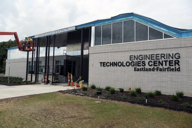 Construction nears completion Aug. 9 at the Eastland-Fairfield Career & Technical Schools Engineering Technologies Center, 4300 Amalgamated Place in Groveport.