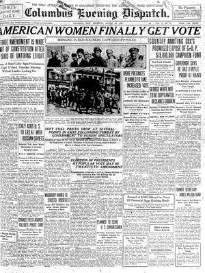 Columbus Evening Dispatch, Aug. 26, 1920, American women get the vote
