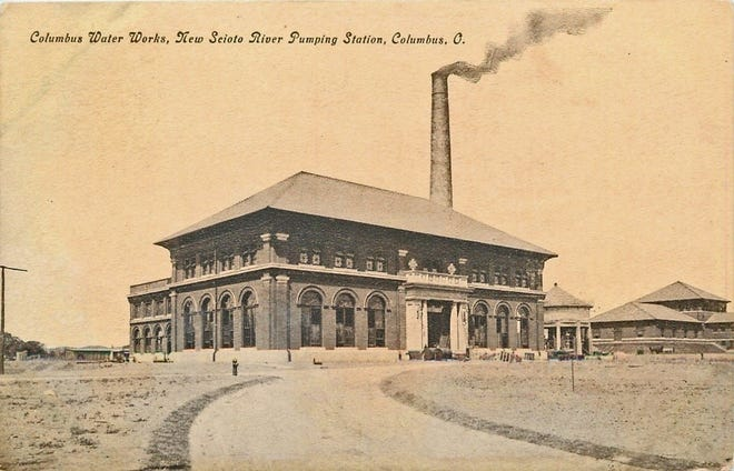 """The Scioto Water Purification Plant and Pumping Station on Dublin Road near Grandview was built in 1908 to include water treatment processes in order to provide clean water to Columbus. Impetus for theplant resulted from the death of a Marcus """"Mark"""" Hanna, prominent U.S. senator, from typhoid fever from drinking tainted water."""