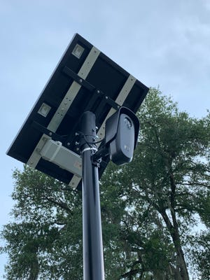 A Flock camera is shown on McCormack Street in Leesburg.