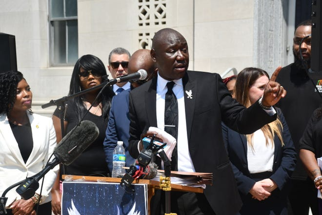 During a Wednesday press conference, Benjamin Crump and a team of attorneys talked about the filing of a civil suit against the Davidson County Sheriff's Office related to the shooting death of Fred Cox.