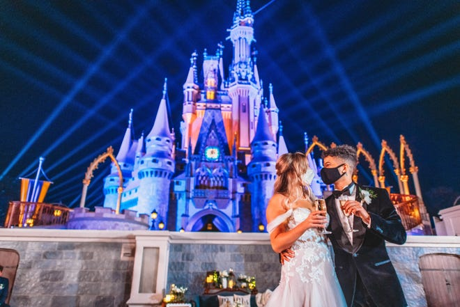Walt Disney World offers wedding packages for those who want to get married in a park or Disney hotel.