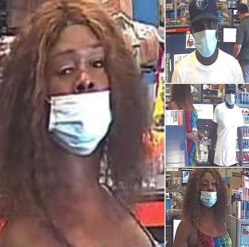 Gonzales Police released surveillance images of two suspects being sought.