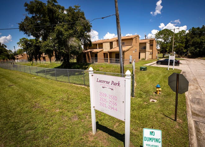 """The Lucerne Park Apartments as they stand today in Winter Haven. The Winter Haven Housing Authority is hoping to """"modernize"""" the complex and turn it into Hillcrest Reserve, doubling the complex size from 60 to 120 units."""