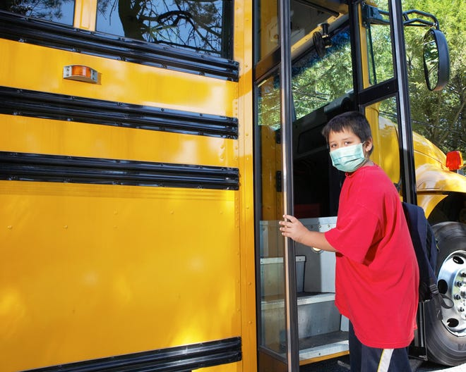 So far, it does not look like most school districts in the lake area will be requiring masks on school buses.