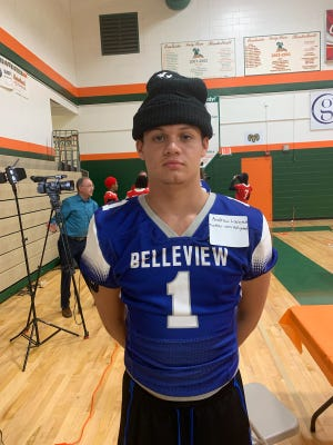 Belleview junior Andrew Lanctot plays wide receiver and free safety for the Rattlers.